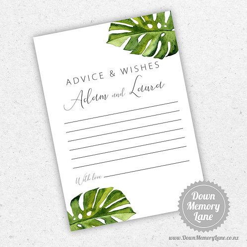 Advice Cards - Monstera