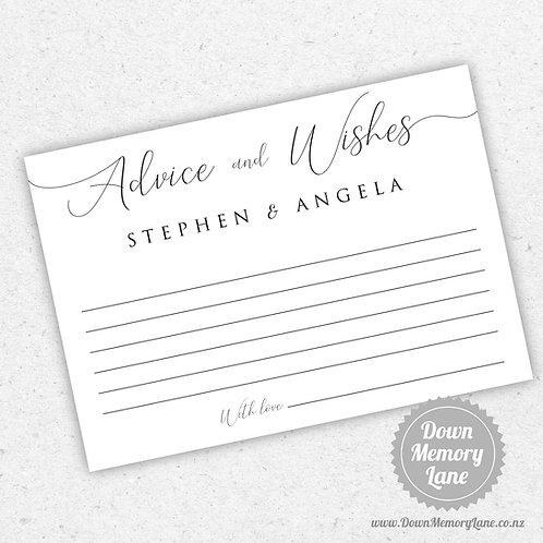 Advice Cards - Classic Script