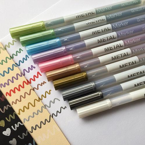 Metallic Marker Pen Set of 10