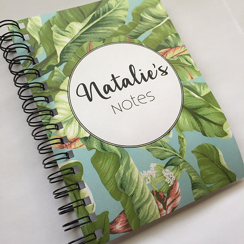 A5 Size - Notebook / Visual Diary - Tropical Leaves