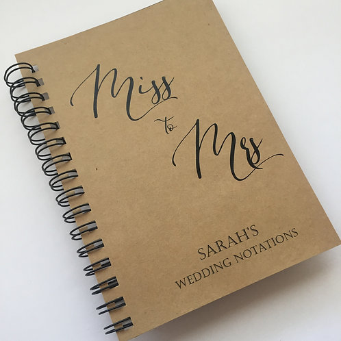 A5 Size - Miss to Mrs on Kraft