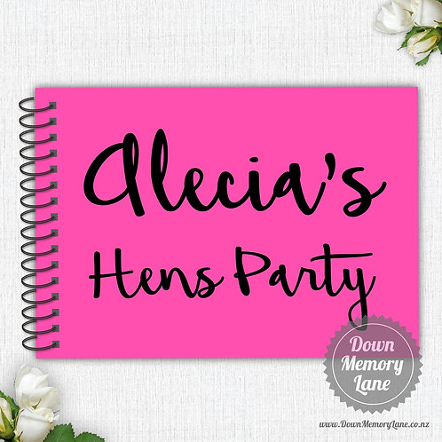 A4 Size - Hens Party on Fluro Pink