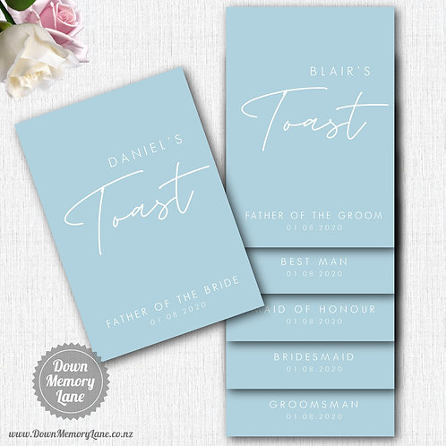 Toast Book - Contemporary Dusty Blue
