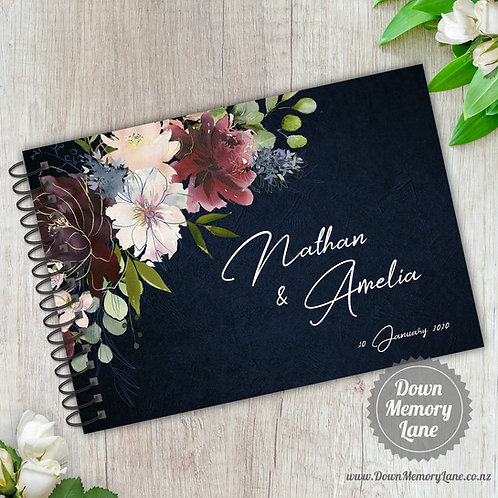 A5 Size - Blooms on Blue