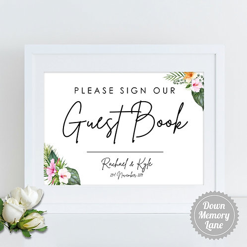 Please Sign - Hibiscus