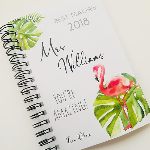 A5 Size - Gift Notebook - Flamingo