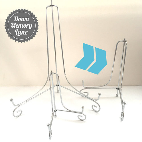 Silver Metal Display Stand - for A4 items
