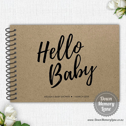 A4 Size - Hello Baby on Kraft