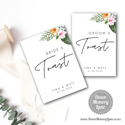Toast Book - Contemporary Hibiscus - Style 1