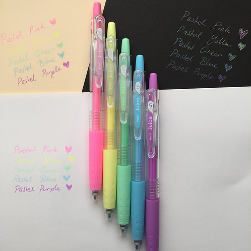 Pilot Pastel Coloured Retractable Clip Pen