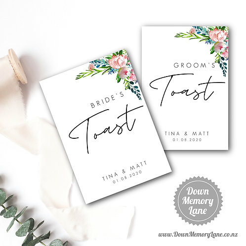 Toast Book - Contemporary Pink Peony - Style 1
