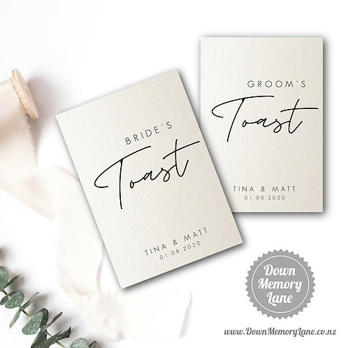 Toast Book - Contemporary Ivory Shimmer - Style 1