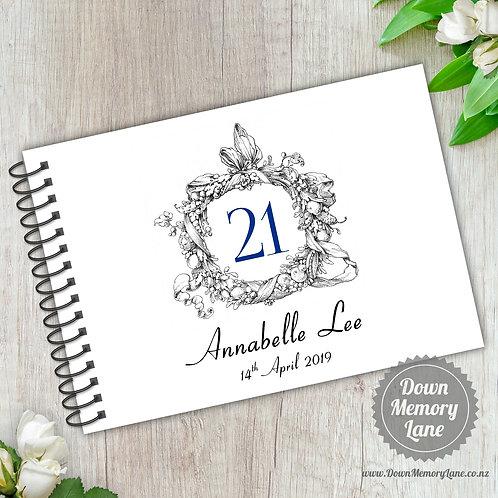 A5 Size - Birthday Wreath on White