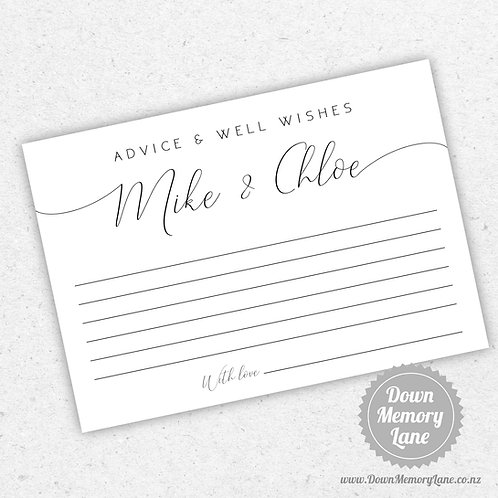 Advice Cards - Personalised Elegance