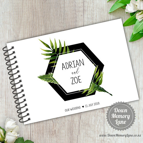 A5 Size - Geo Leaves