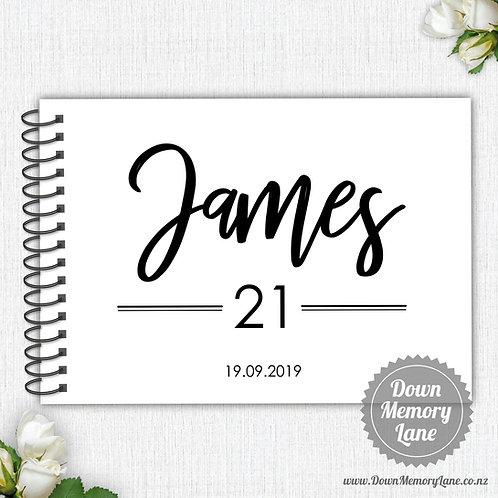 A4 Size - Birthday Bold on White