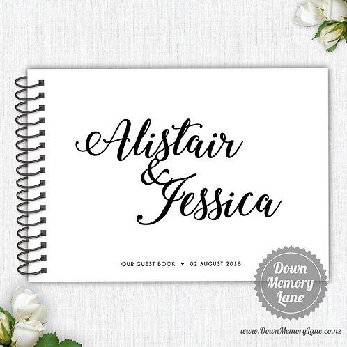 A4 Size - Couples Names on White