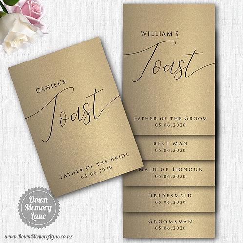 Toast Book - Classic Gold