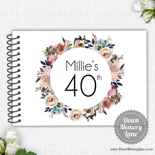 A4 Size - Birthday Pastel Wreath