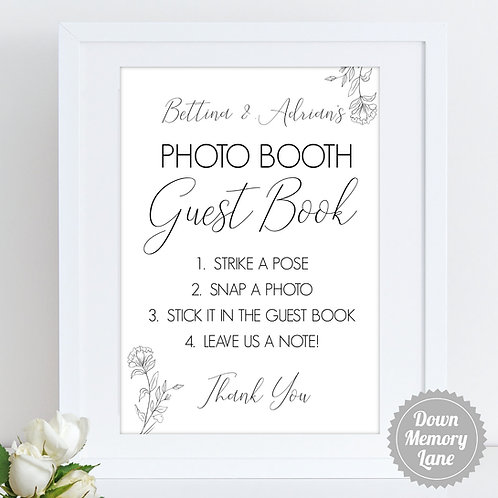 Instax/Polaroid/Photo Booth - Simple Botanicals