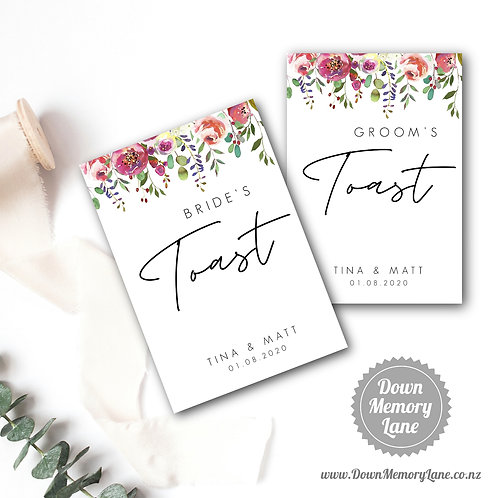 Toast Book - Contemporary Spring Floral - Style 1