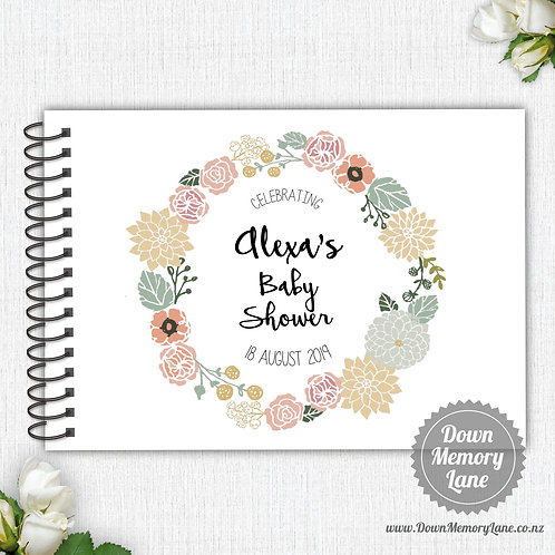 A4 Size - Baby Floral Wreath