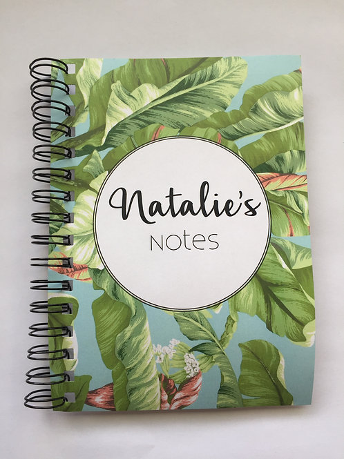 A4 Size - Notebook / Visual Diary - Tropical Leaves
