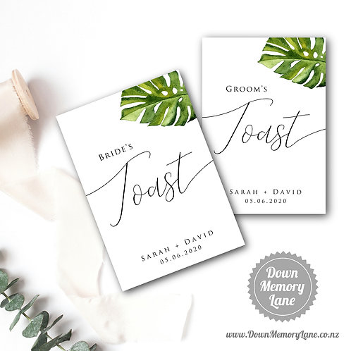 Toast Book - Classic Monstera - Style 1