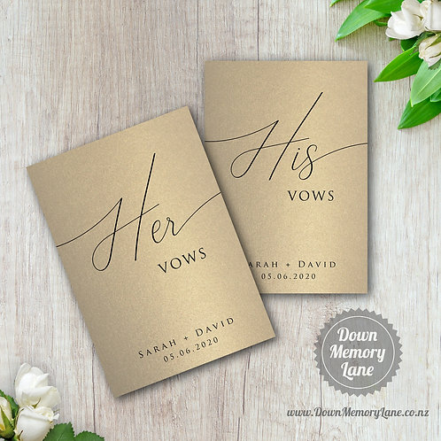 Vow Book - Classic Gold - Style 2