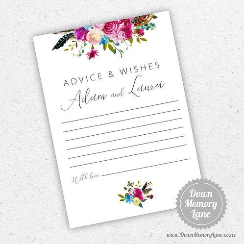 Advice Cards - Boho Pinks