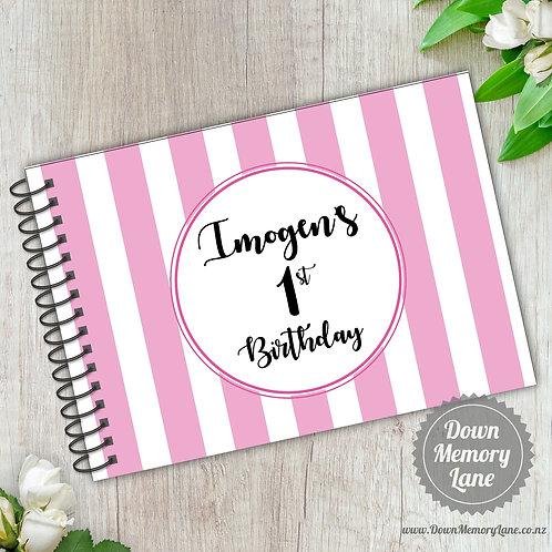 A5 Size - Birthday Stripes