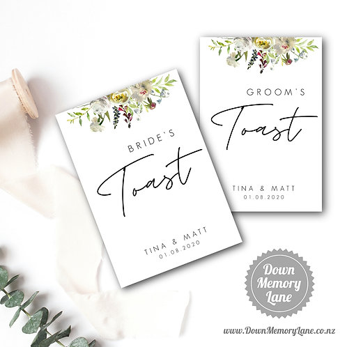Toast Book - Contemporary White Flora - Style 1