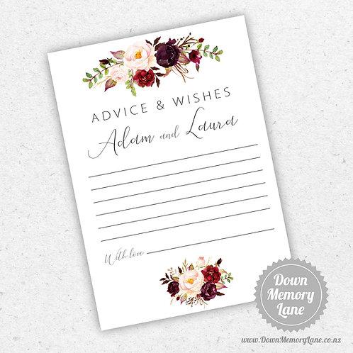 Advice Cards - Burgundy Cream