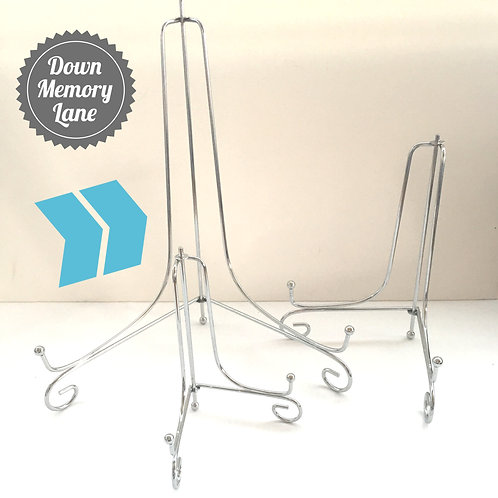 Silver Metal Display Stand - for A4 & A3 items