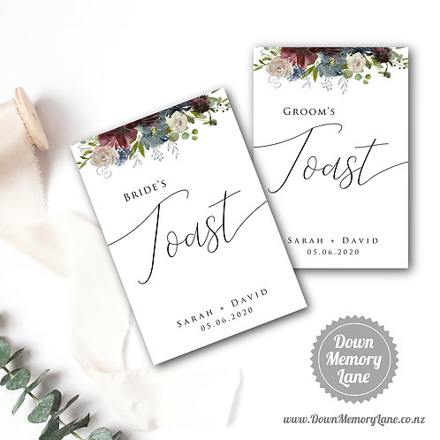 Toast Book - Classic Wild Bouquet - Style 1