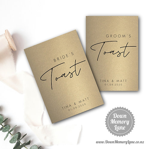 Toast Book - Contemporary Gold - Style 1