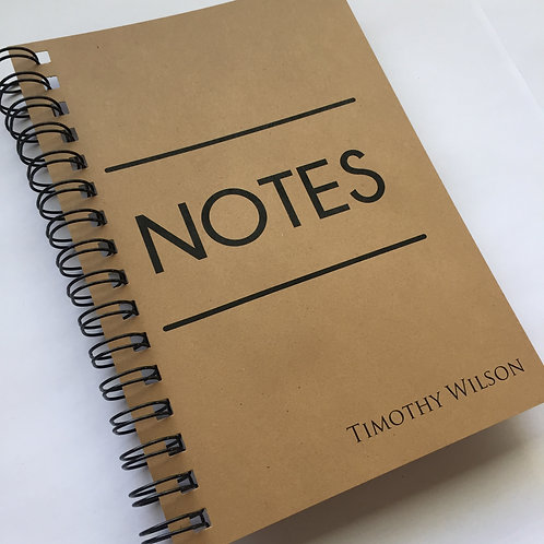 A5 Size - Notebook / Visual Diary - Big Notes