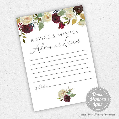 Advice Cards - Red Rose Drop