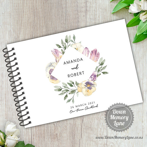 A5 Size - Lilac Pansies