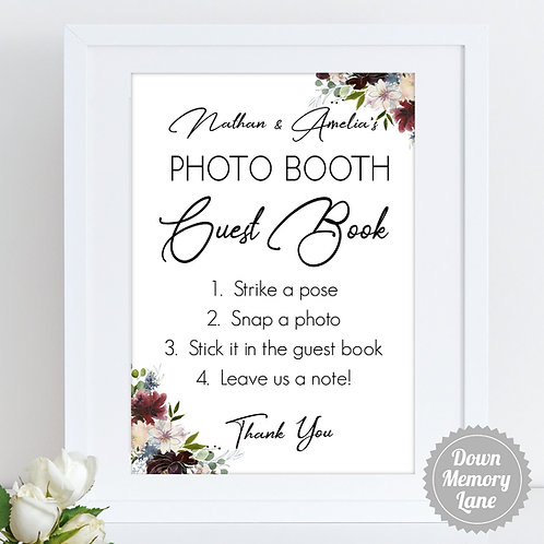 Instax/Polaroid/Photo Booth - Blooms