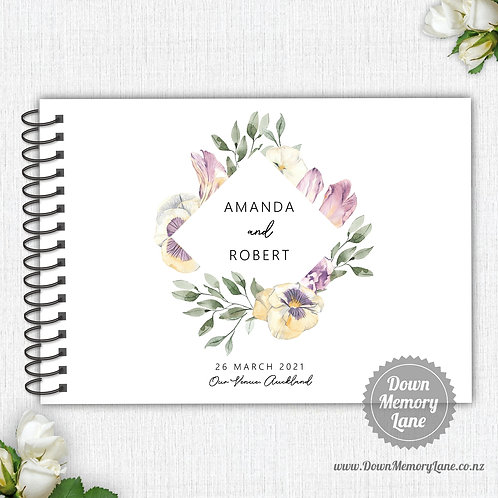 A4 Size - Lilac Pansies
