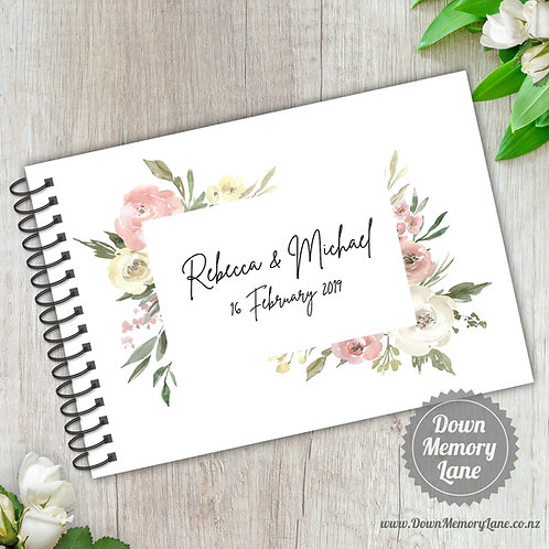 A5 Size - Dusty Pink Florals