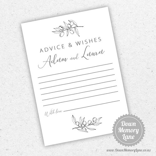 Advice Cards - Olive Branch