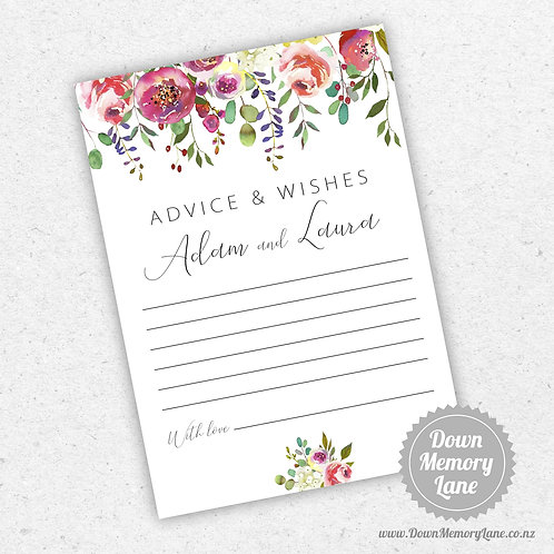 Advice Cards - Spring Floral Drop