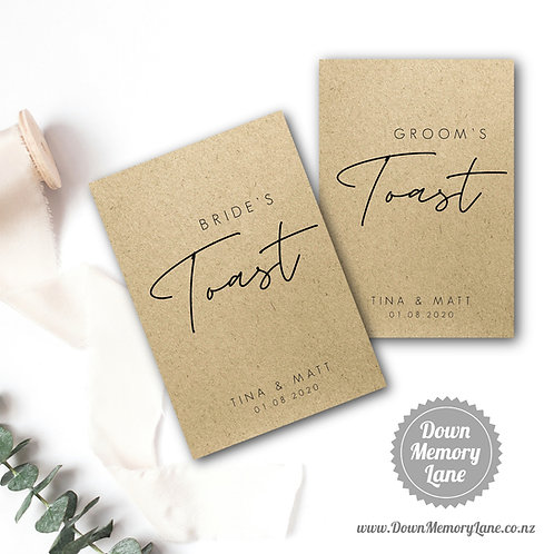 Toast Book - Contemporary Kraft - Style 1
