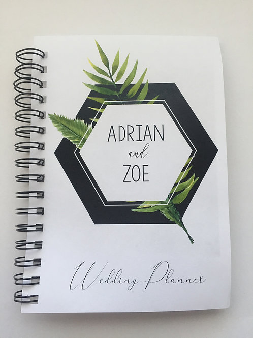 A4 Size - Geo Leaves on White