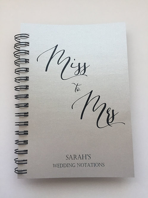A4 Size - Miss to Mrs on Silver