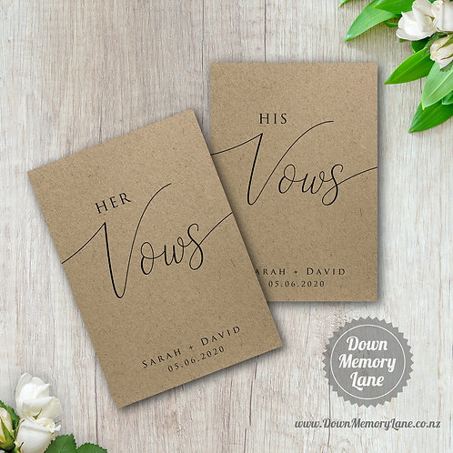 Vow Book - Classic Kraft - Style 1