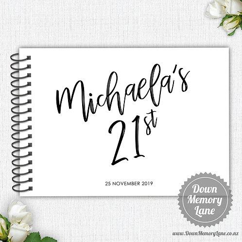 A4 Size - Birthday Funky Names on White