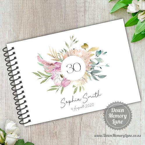 A5 Size - Birthday Pastel Grace